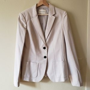 BR Bone Two-Button Suit Coat 12 Tall